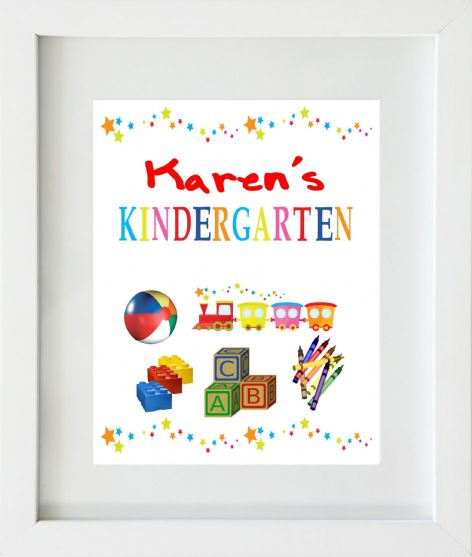 Personalised Kindergarten / Playschool Print